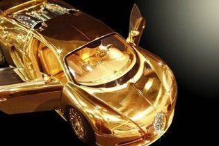 Створено золоту модель Bugatti Veyron вартістю 3 млн доларів