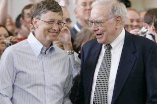 Билл Гейтс и Уоррен Баффет отдадут половину состояний на благотворительность