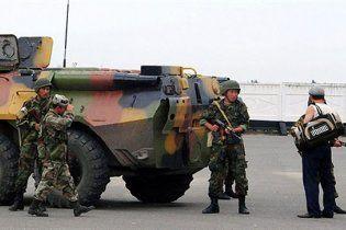 В Бишкеке митингуют бойцы спецподразделения Альфа