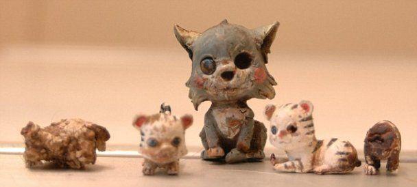 Собака проковтнув п'ять керамічних котів