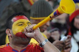 Вувузелы запрещены на футбольных стадионах Украины