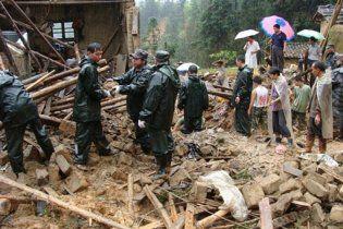 Нові обвали в Китаї блокували близько 500 людей, є жертви