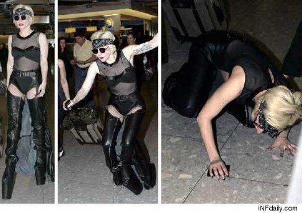 У Lady GaGa из-за высоких каблуков начались проблемы с ногами