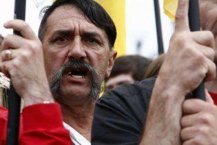 Біля Адміністрації президента зібрались мітингувальники на захист Макаренка