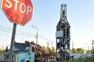 В Москве установили памятник пьяным за рулем