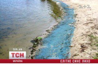 VIP-пляжи Конча-Заспы закрасило синим цветом