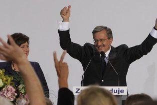 На выборах президента Польши победа осталась за Коморовским