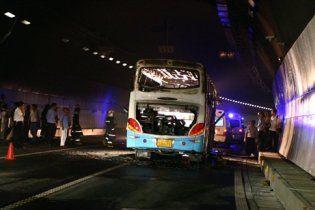 24 человека сгорели заживо в автобусе в Китае
