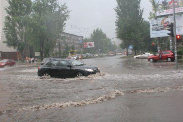 Ураганні зливи з градом пройшлися Україною