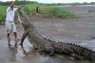 Подружжя перепливло річку з крокодилами заради квитка на чемпіонат світу