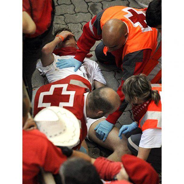В Іспанії за перші дві хвилини забігу з биками поранені кілька людей