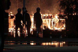 В Норвегии сожгли лагерь беженцев