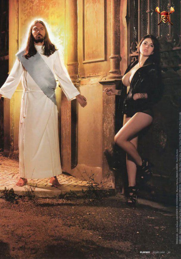 Playboy закрыли из-за эротических фото с Иисусом