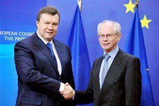 Президент Евросоюза приехал с первым официальным визитом в Киев
