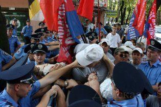 Противники НАТО в Одессе подрались с милицией