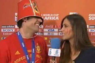 Футболист сборной Испании дал интервью с ведром на голове