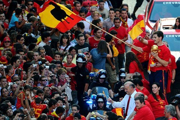 Збірну Іспанії у Мадриді зустрів мільйон прихильників