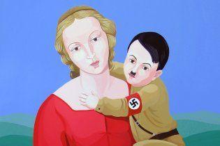 Католики повстали проти картини Богородиці з Гітлером на руках