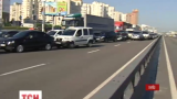 В столице был заблокирован проспект Бажана