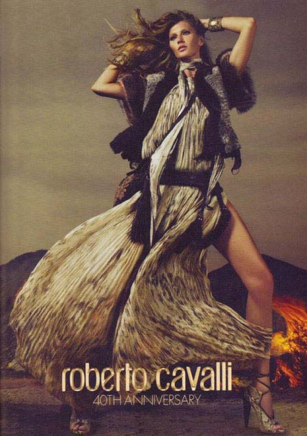 Жизель Бюндхен - лицо юбилейной коллекции Roberto Cavalli