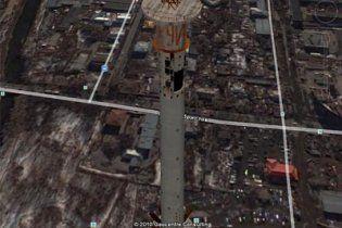 На вершине телебашни в Екатеринбурге обнаружили большое неприличное слово