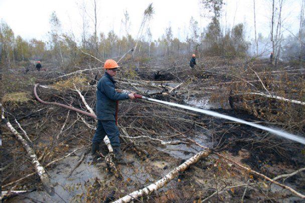 Торф'яні пожежі під Москвою загасять через тиждень