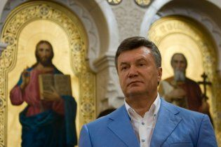 Янукович пожелал украинцам Господней защиты