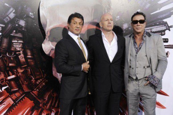 """Сталлоне презентував фільм """"Нестримні"""" у США"""