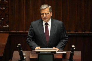 Коморовський офіційно вступив на посаду президента Польщі