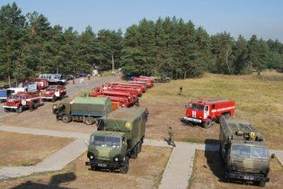 Україну від пожеж охороняють Внутрішні війська