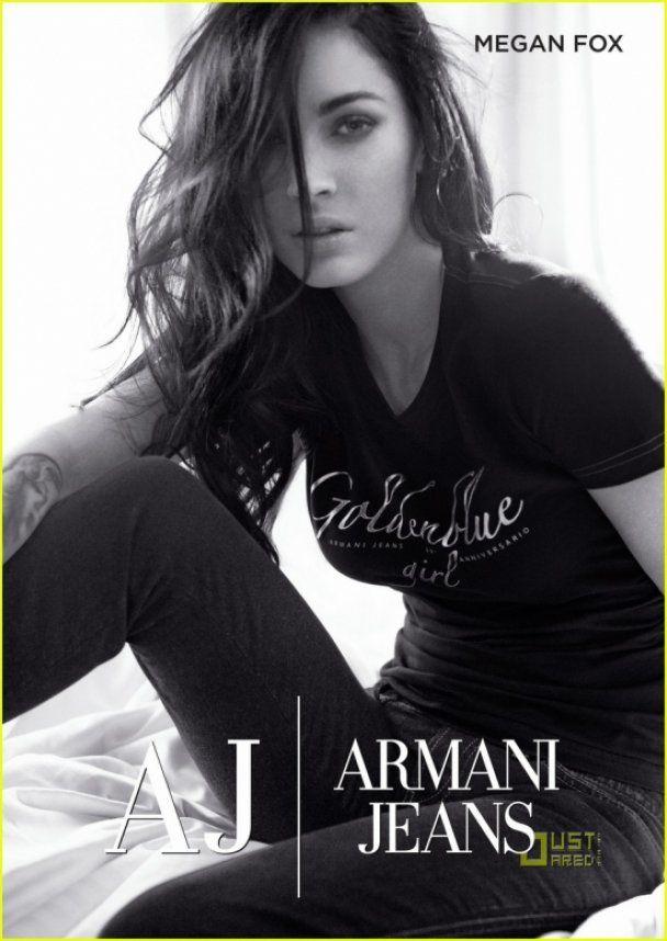 Меган Фокс рекламирует джинсы Armani