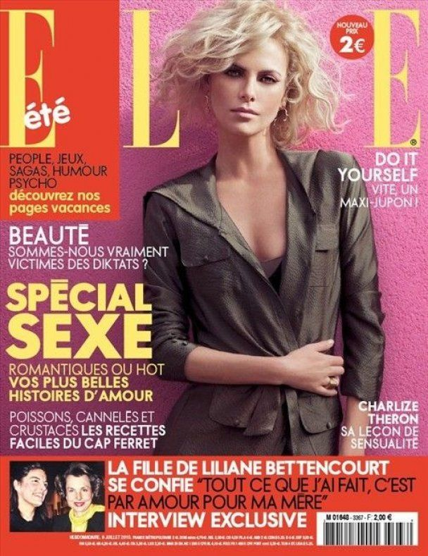 Сексуальна Шарліз Терон знялась для Elle