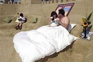 В Британии туристам предлагают провести ночь в песчаной гостинице