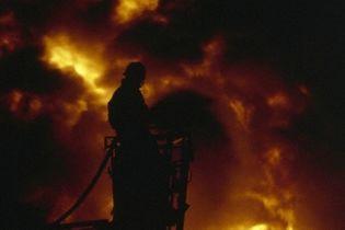 В Киеве горела прокуратура (видео)