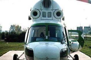 Упавший вертолет не был зарегистрирован (видео)