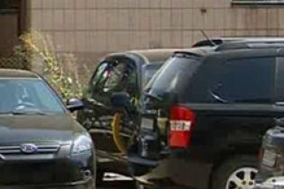 Охранники разбили три авто во время гулянки (видео)