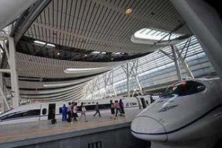Скоростную железную дорогу открыли в Китае