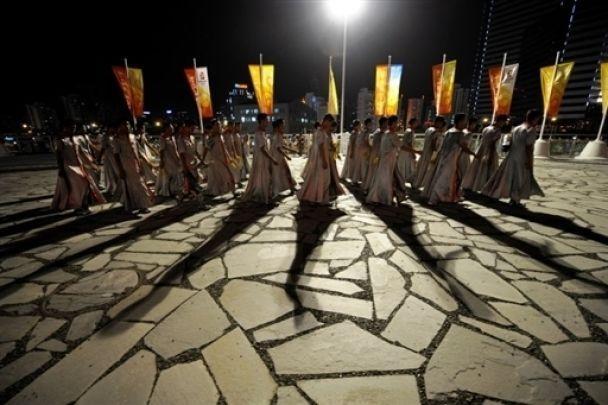 В Пекине провели последнюю репетицию открытия Олимпиады (фото)