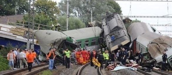 Аварія потяга в Чехії