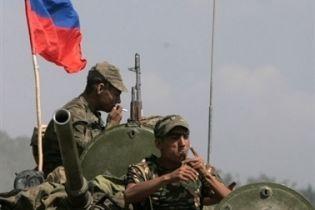 Грузинских пленных допрашивают в России
