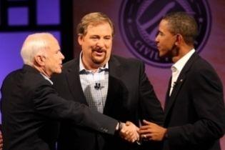 Обама и Маккейн рассказали о ценностях (видео)