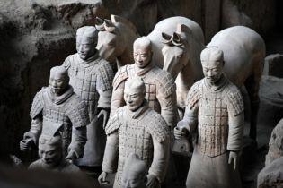 На Олимпиаде показывают глиняных воинов (видео)
