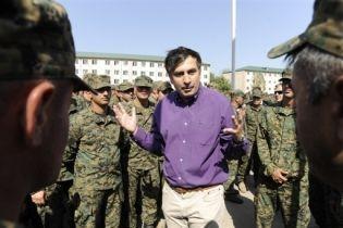 Саакашвили встретился с солдатами (видео)