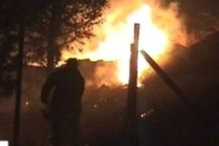 Пожар в Луганской области (видео)