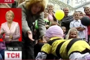 Забеги карапузиков во Львове (видео)