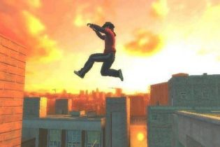 Вор прыгнул с 4-го этажа (видео)