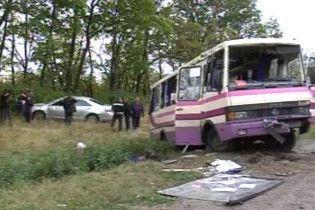 В Херсонской области автобус протаранил авто. Есть жертвы
