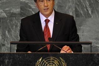 Ющенко выступил в ООН (видео)