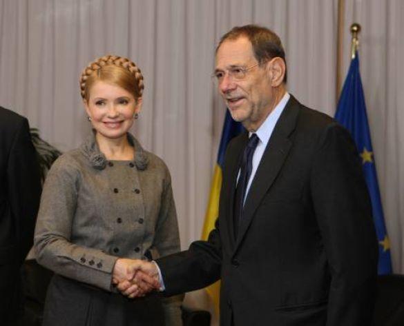 Юлія Тимошенко та Хав'єр Солана у Брюсселі
