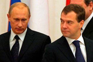 Путин заработал почти на два миллиона больше Медведева
